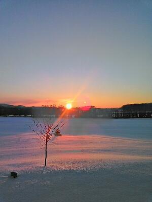 本日の日の出 today's sunrise