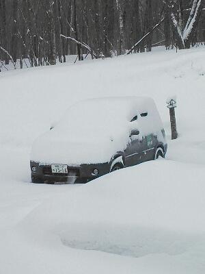 積雪しました Snow was piled up