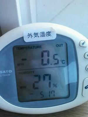 氷点下! Below freezing point!