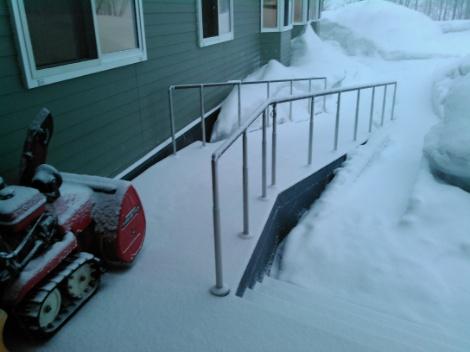 またも積雪