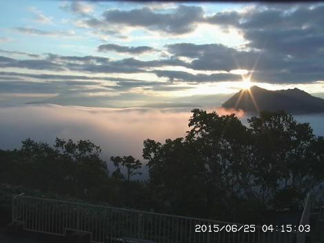 今朝の摩周湖の日の出