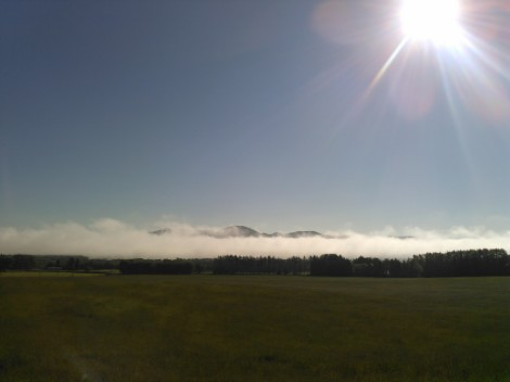 晴れてきた雲海