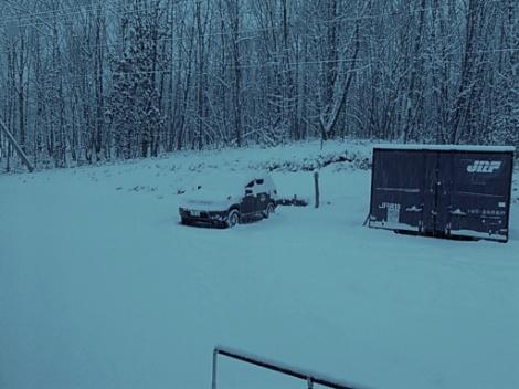 積雪しています