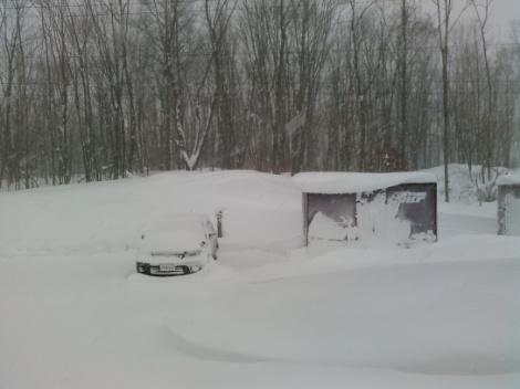 2回目の除雪に出撃します