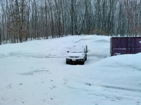 また積雪です